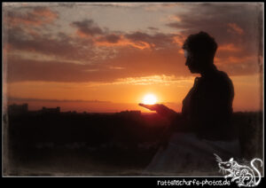 2021-05-29 Sonnenuntergang mit Christin